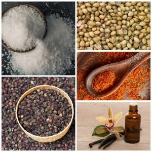Say hello to salt, pepper, coriander, saffron, and vanilla!