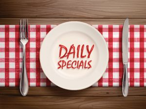 Italian restaurant specials